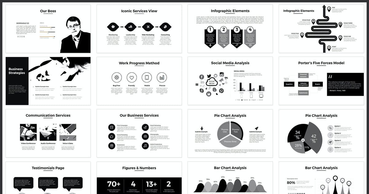 Minimal Powerpoint Template By Graphix Shiv On Envato Elements