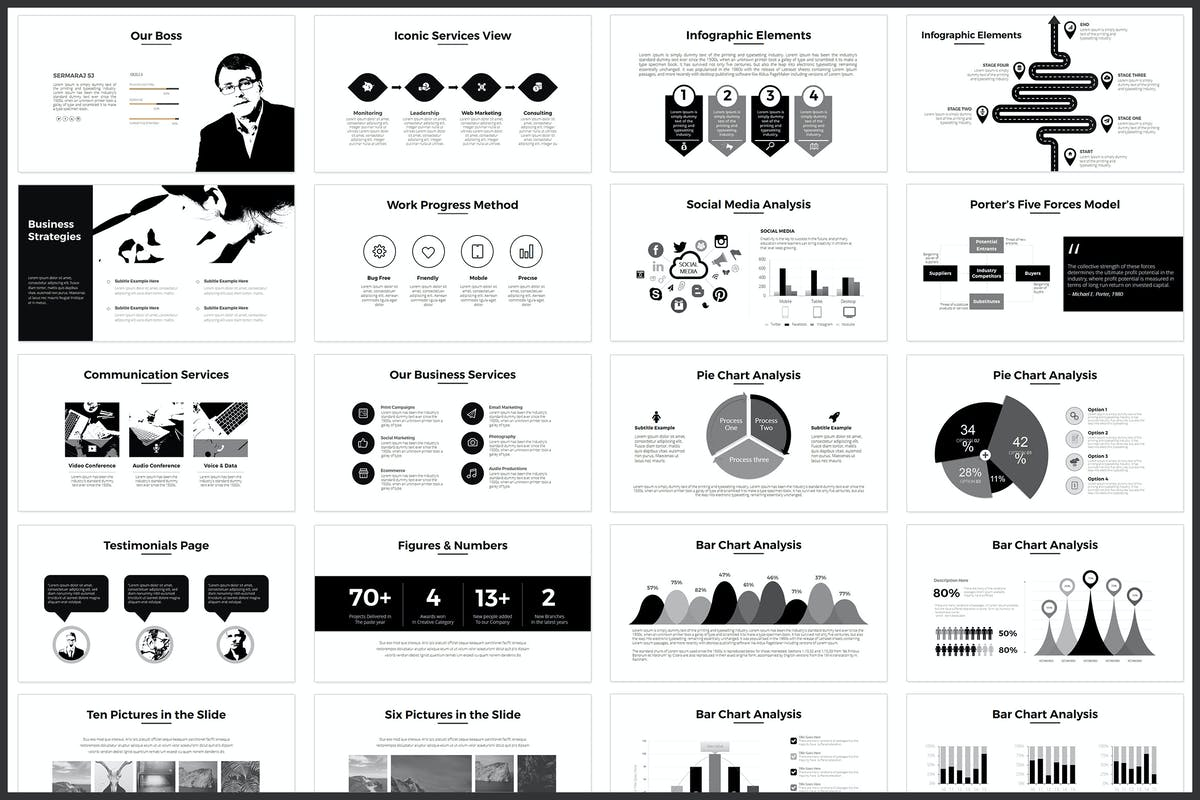 Minimal PowerPoint Template by graphix_shiv on Envato Elements
