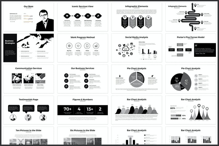 Download 540 minimal presentation templates envato elements thumbnail for minimal powerpoint template toneelgroepblik Image collections