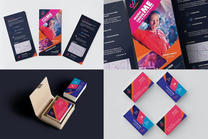 Thumbnail for DJ / Rack Card and Business Card Template 02
