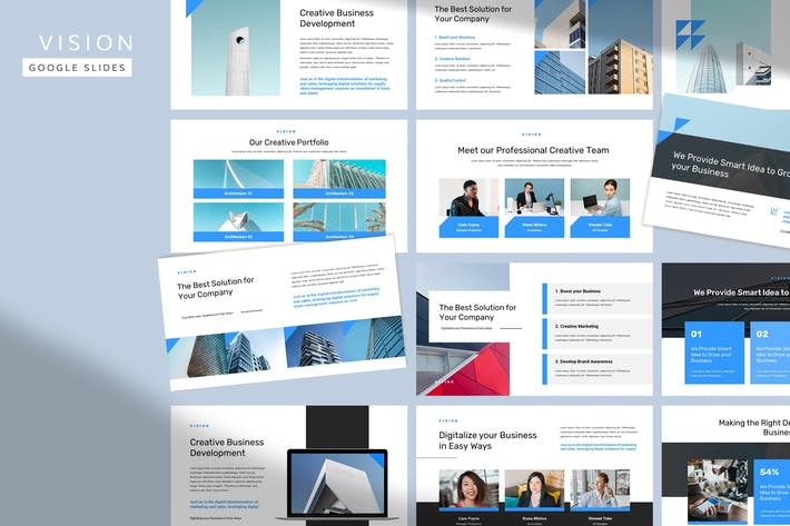 Thumbnail for Vision - Corporate Pitch Google Slide Template