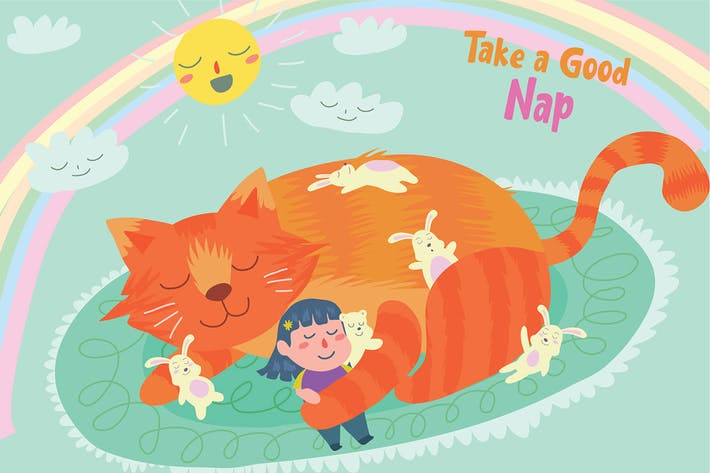 Thumbnail for Afternoon Nap - Vector Illustration
