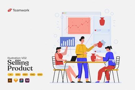 Teamwork - Create & Selling Product on Marketplace