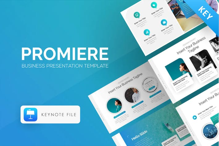 Thumbnail for Promiere Business Keynote Presentation Template