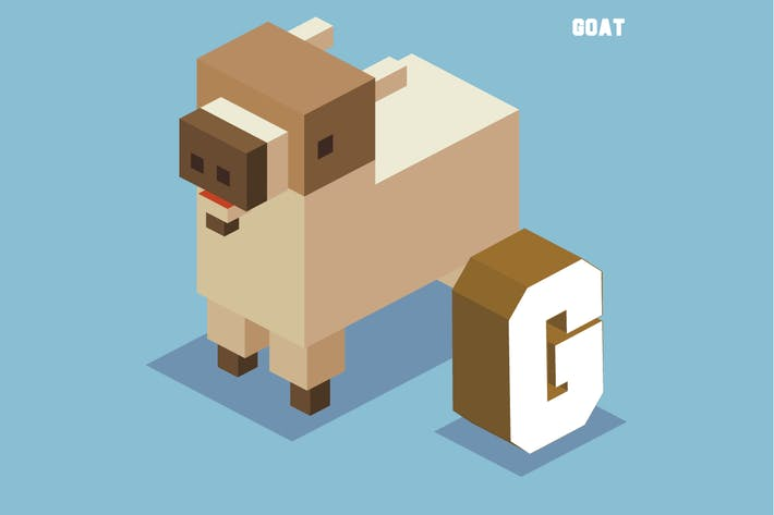 Thumbnail for G for goat. Animal Alphabet
