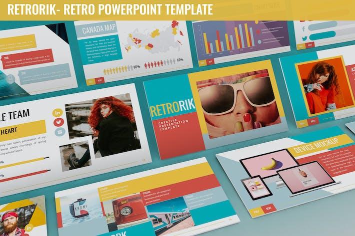 Thumbnail for Retrorik - Retro Powerpoint Template