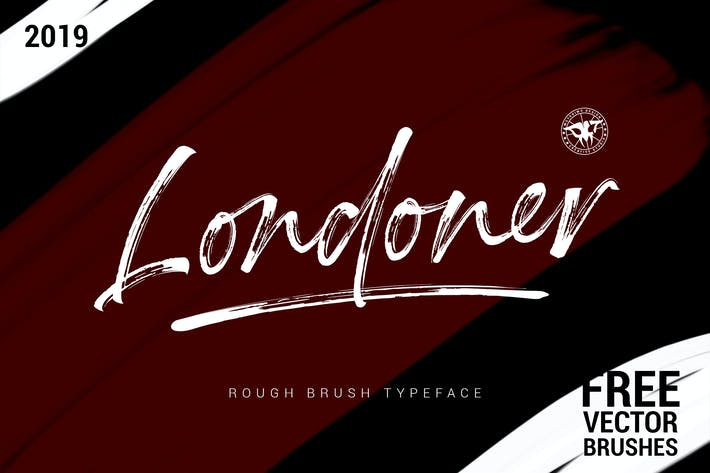 Thumbnail for Londoner - Rough Brush Font
