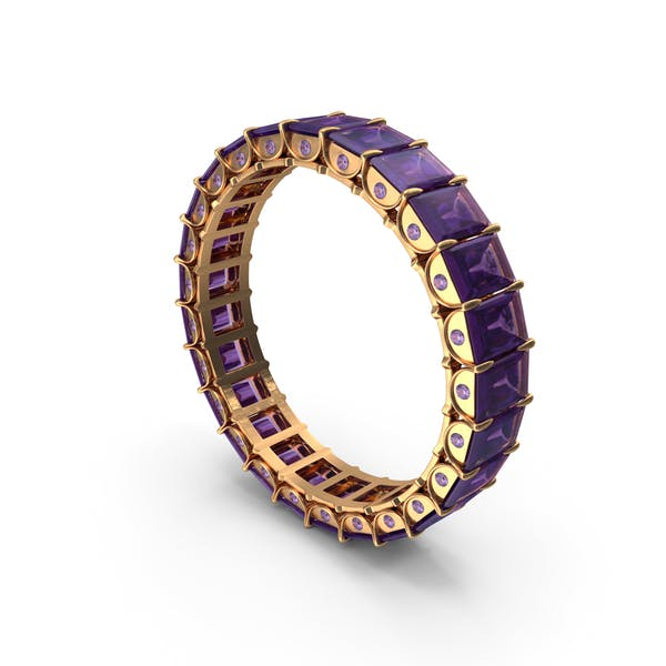 Thumbnail for Gold Ring with Amethyst