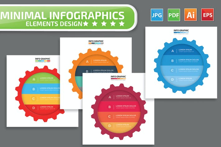 Thumbnail for Gear infographic Design