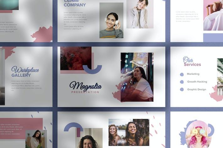 Thumbnail for Magnolia - Feminine Google Slides Templates