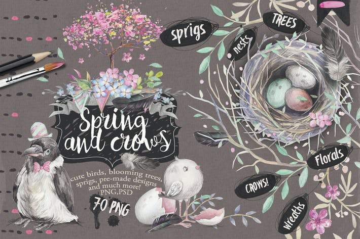 "Thumbnail for ""Spring & crows"" bundle"