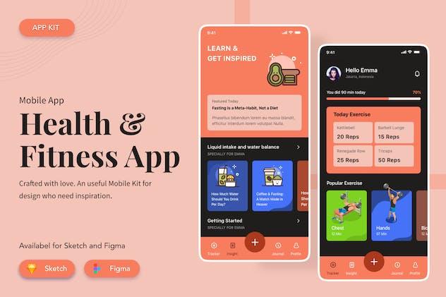 Health  Fitness App UI/UX