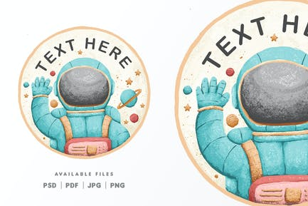 Cute Astronaut Character Illustration