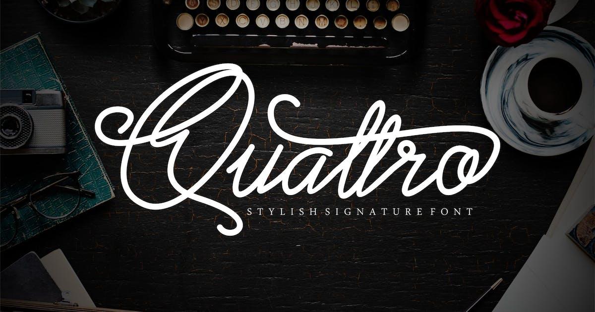 Download Quattro Script Font by axelartstudio