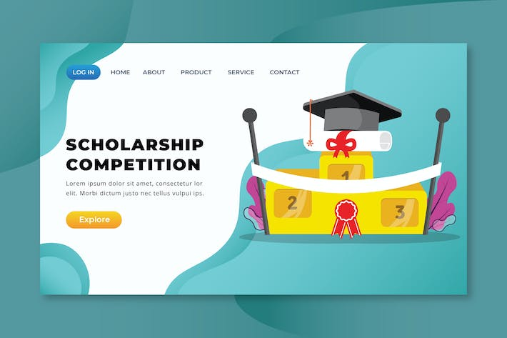 Thumbnail for Scholarship Competition - XD PSD AI Landing Page