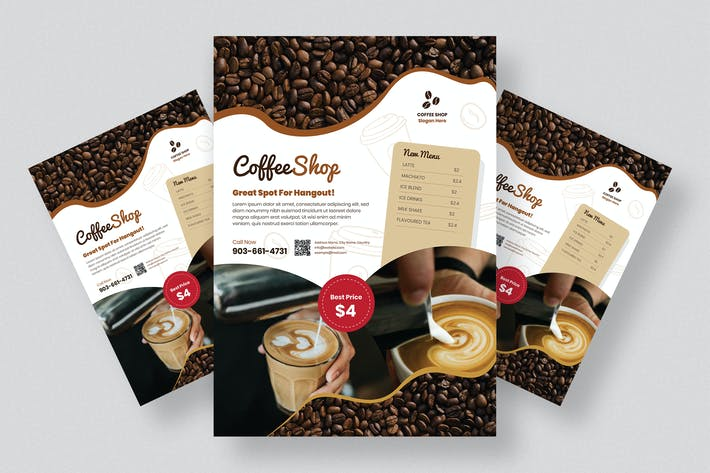 Thumbnail for Coffee Shop Flyer Design