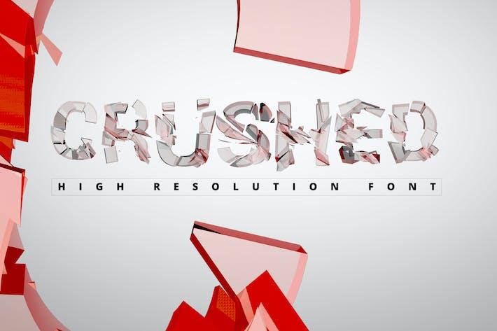 Thumbnail for Crushed Transparent Font