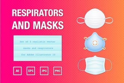 Realistic Masks and Respirators