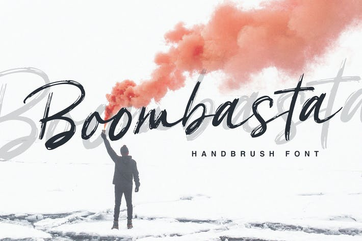 Thumbnail for Boombasta - Handbrush Font
