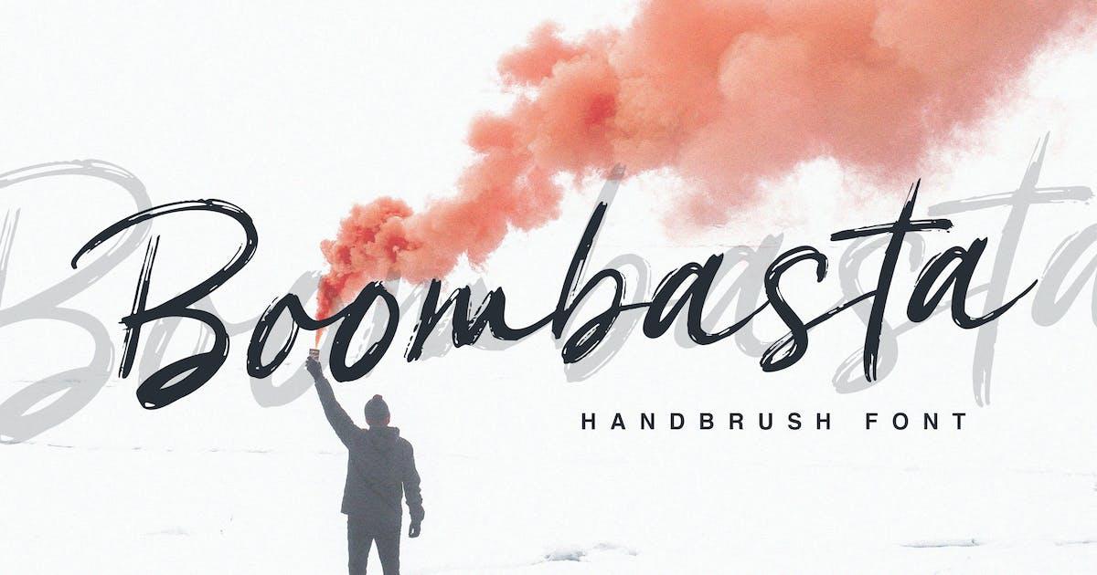 Download Boombasta - Handbrush Font by naulicrea