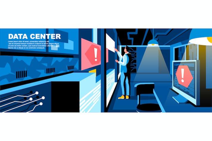 Thumbnail for Data Center Flat Concept Landing Page Header