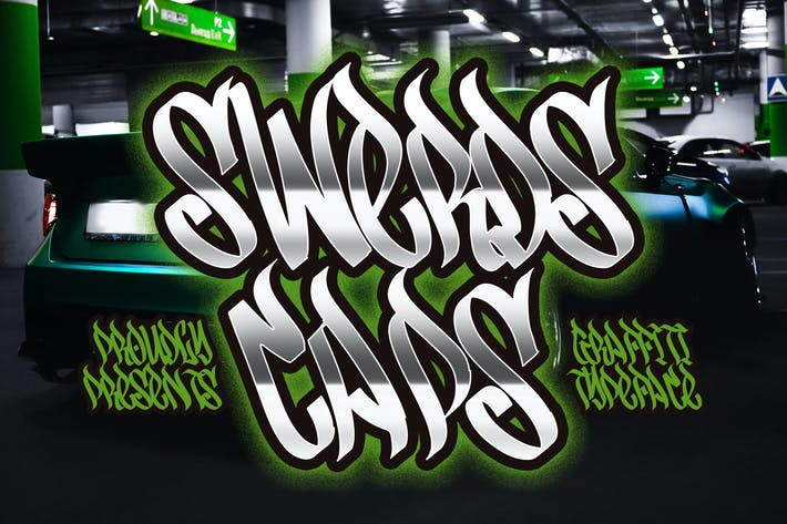 Thumbnail for Swerds Caps - Graffiti Style Typeface