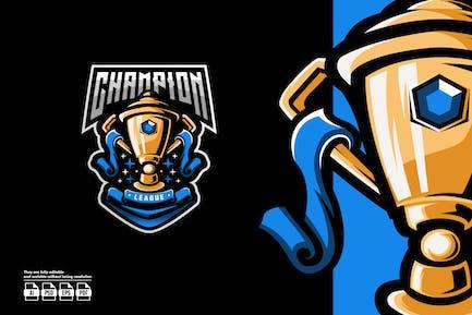 Trophy Esport Logo Template