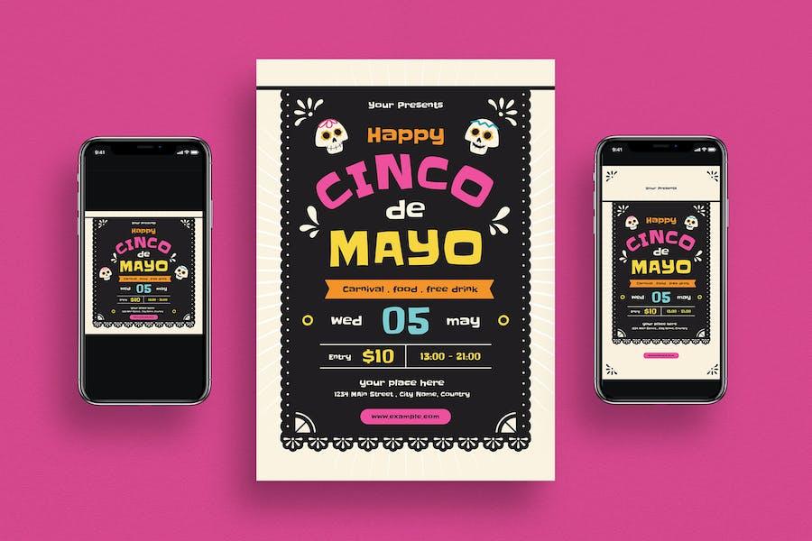 Cinco De Mayo Event Flyer + Social Media