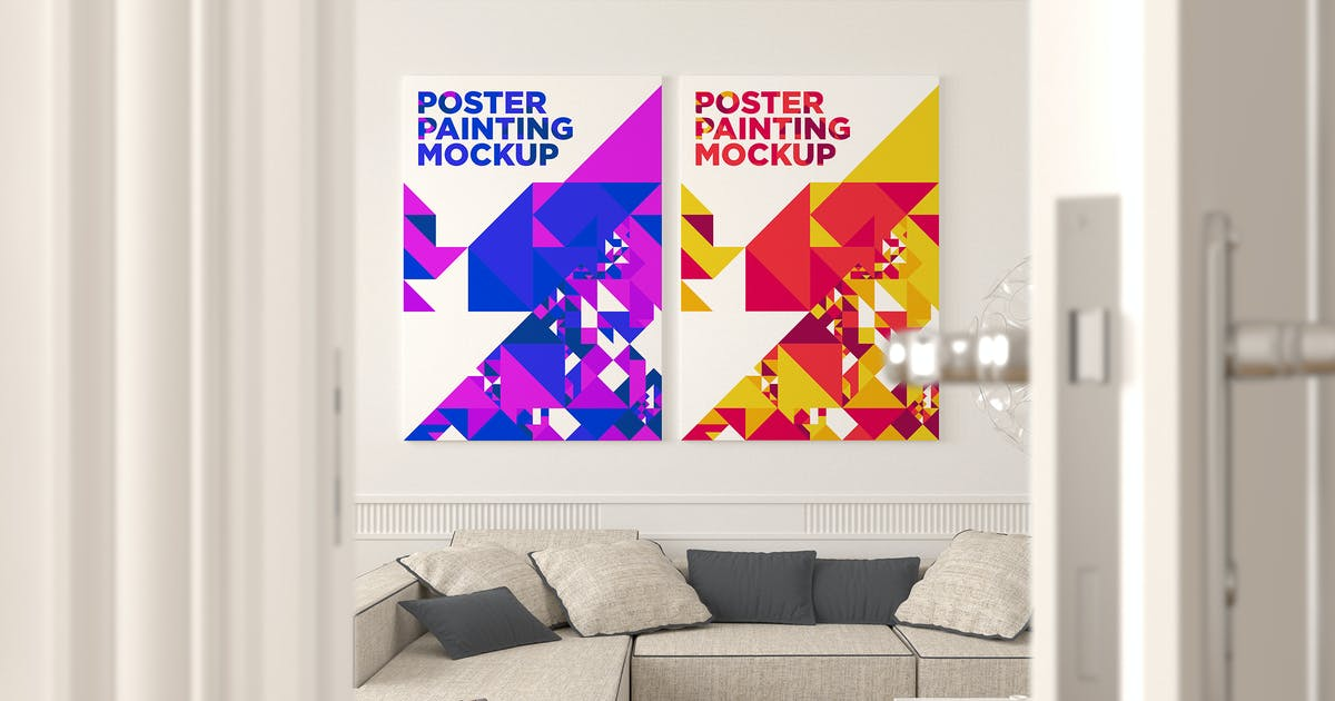 Download Poster Painting Mockup Vol. 6 by traint