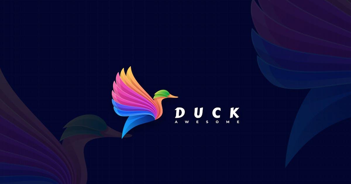 Download Duck Gradient Colorful Logo by artnivora_std