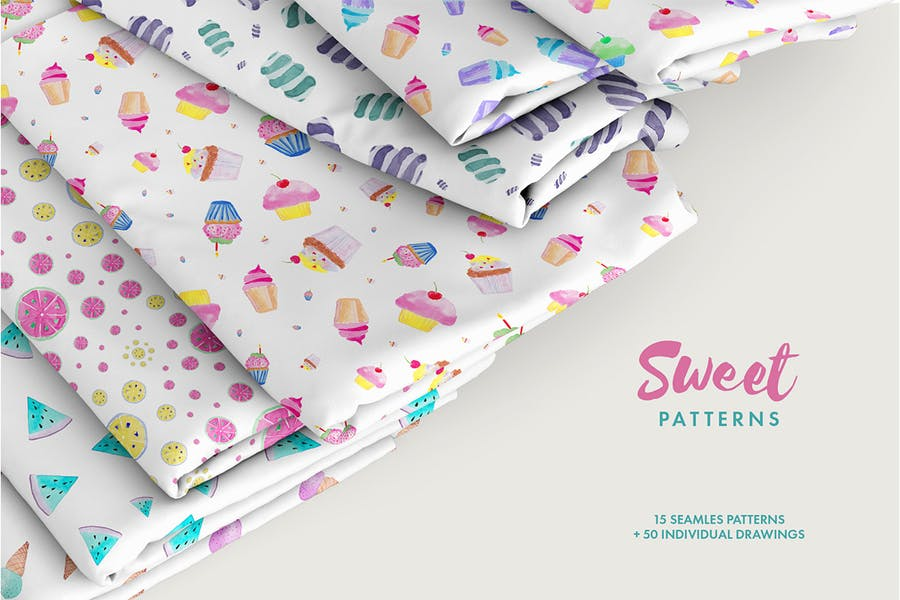 Watercolor Sweet Patterns