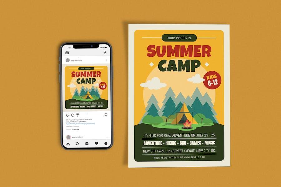 Summer Camp Template Set
