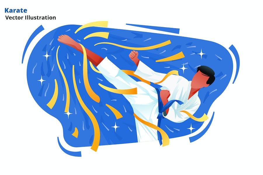 Karate - Vektor Illustration