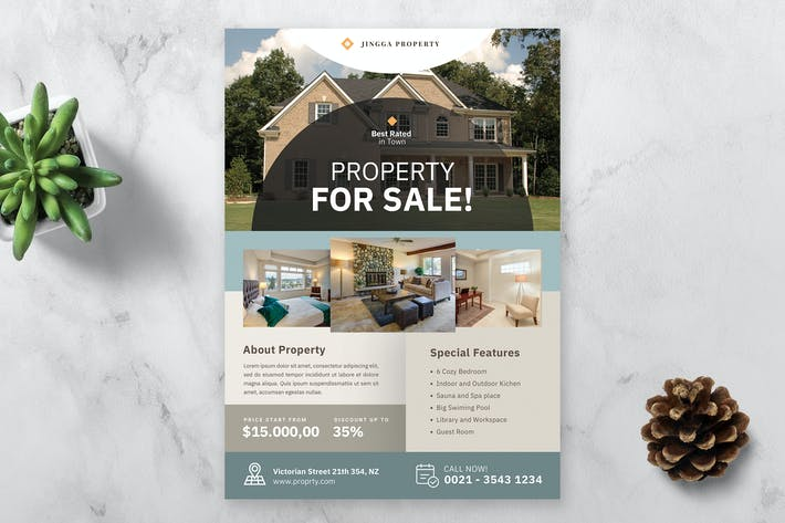 Thumbnail for Real Estate Flyer Template