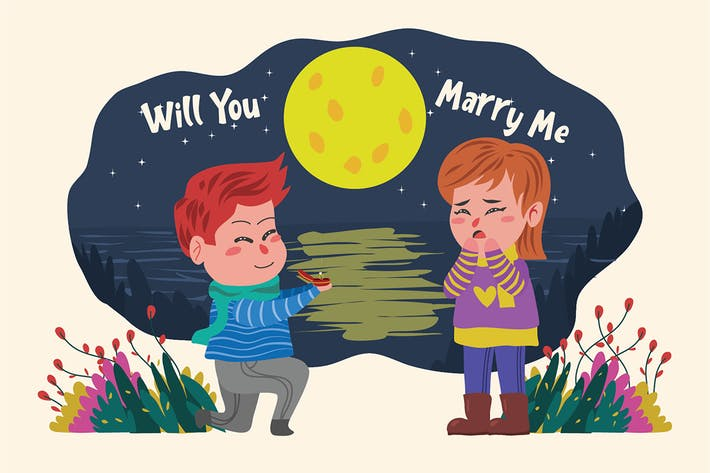 Thumbnail for You Marry Me - Vector Illustration