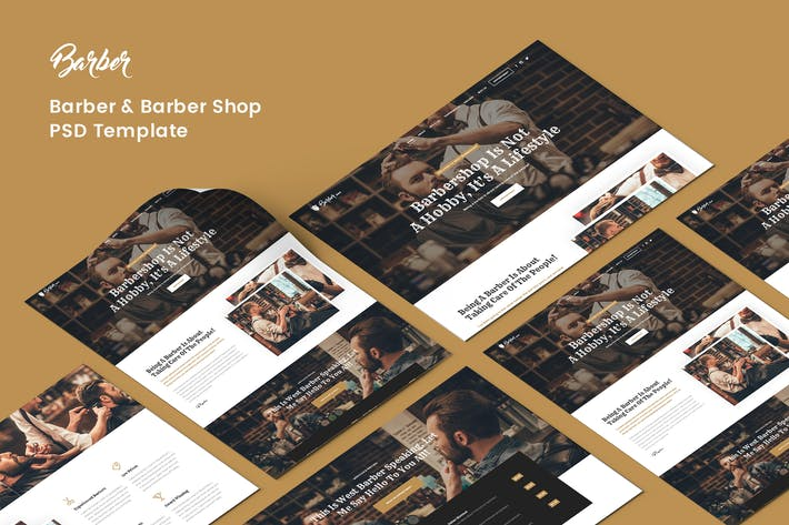 Cover Image For Barber PSD Template