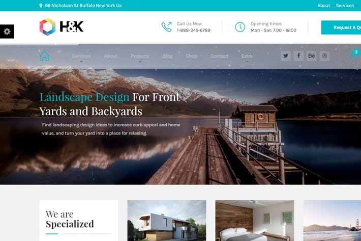 Thumbnail for Hnk - Business and Architecture HTML Template