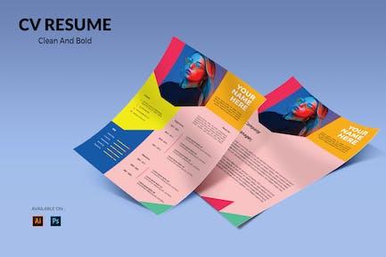 CV Resume Creative And Bold