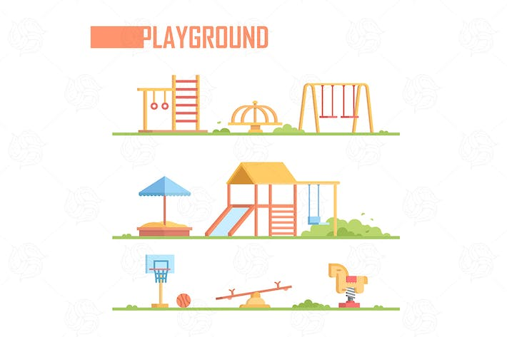 Thumbnail for Set of vector playground elements