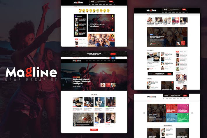 Thumbnail for Magline - Blog & News Magazine PSD Template
