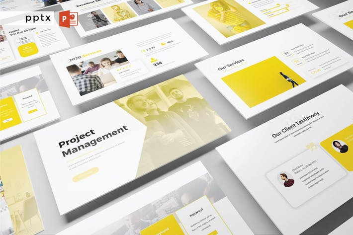 Thumbnail for PROJECT MANAGEMENT - Powerpoint  V401