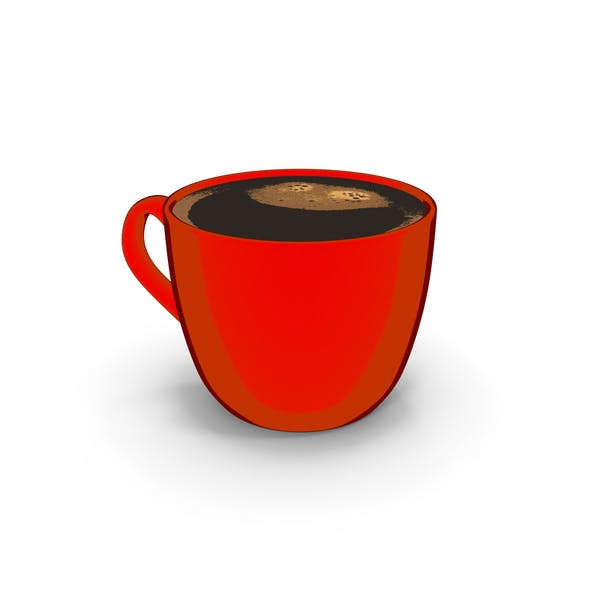 Coffee Cup Small Red Cartoon