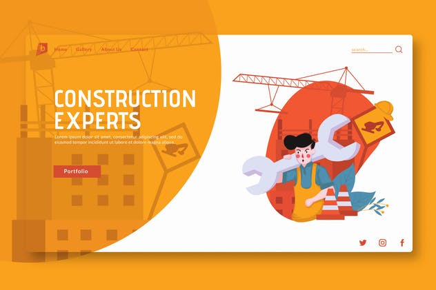 Construction Experts - Landing Page GR