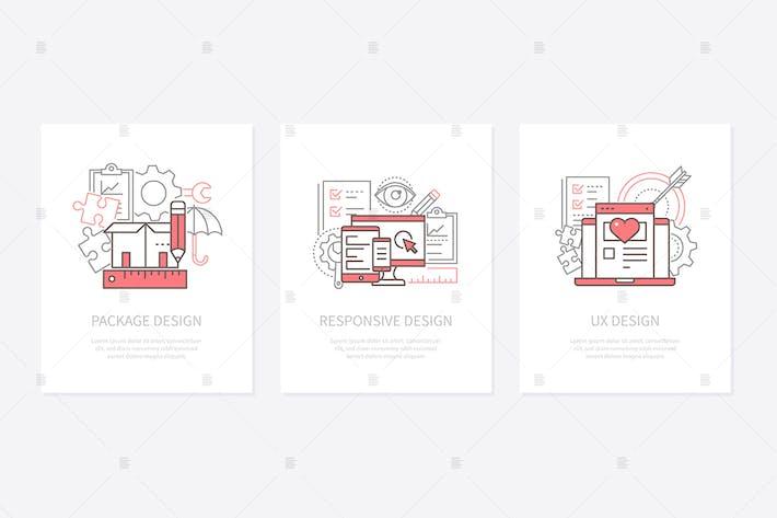 Thumbnail for Web development line design banners
