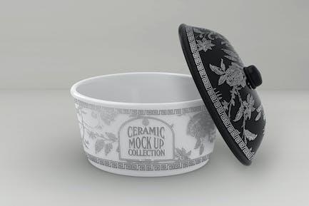 Ceramic Pot Packaging MockUp
