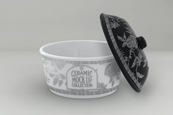Thumbnail for Ceramic Pot Packaging MockUp