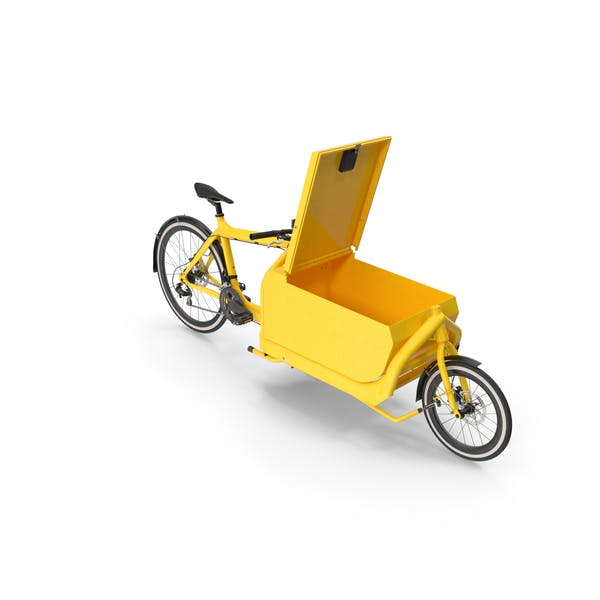 Cargo Bike with Metal Box Open Hatch