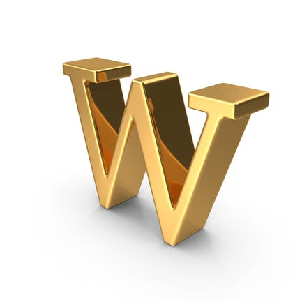 Gold Small Letter W