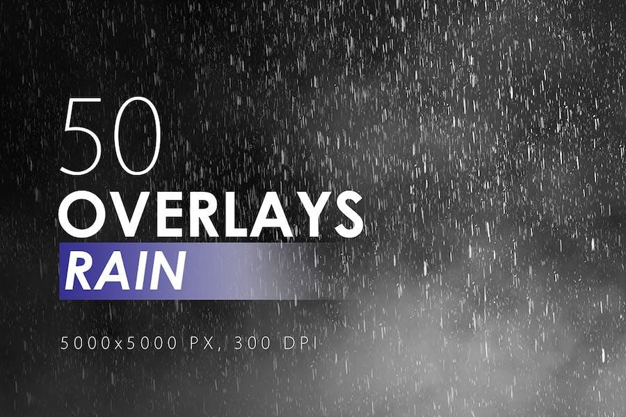 50 Rain Overlays