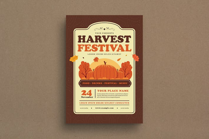 Thumbnail for Harvest Festival Event Flyer